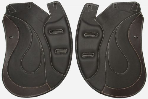 "Dressage Equitana Flaps - 1"" In Brown With  Low Profile Blocks   - Flap 36"